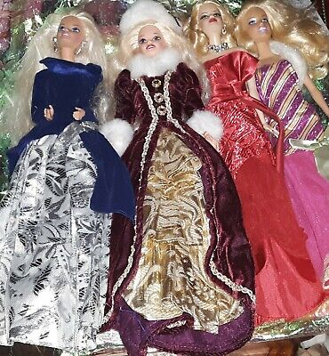 LOT Holiday Special Edition Barbie Dolls 1996 2011 2012 Barbie Perfect Christmas