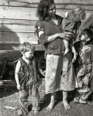 1936 Vintage Photo HARD TIMES FOR RURAL MOTHER Tennessee GREAT DEPRESSION ERA