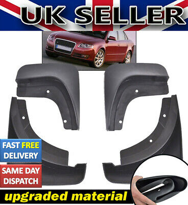 For Audi A4 B7 Saloon 2005-2008 Mudflaps Splash Guards Mud Flaps Mudguards 4Pcs