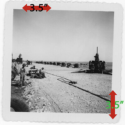 WW2 Korean War U.S. Army 120mm M1 Anti-Aircraft Heavy Artillery Gun Cannon Photo