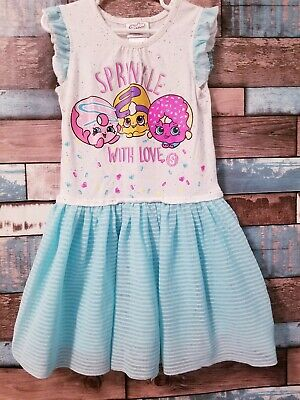 SHOPKINS 2018 JERSEY  DRESS,3//4,4//5,5//6,7//8,9//10YR NEW WITH TAGS
