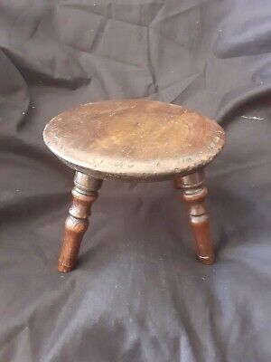 Early 19th century Antique English oak child stool / candle stand