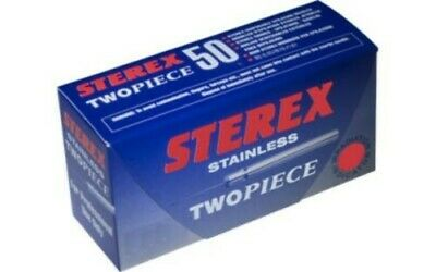 Sterex Stainless Two Piece Needles box of 50 F 5S Electrolysis Brand New
