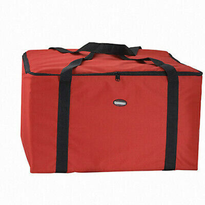 """Pizza Delivery Bag Red Thermal Insulated Polyester/PVC Hold 6pcs 14"""" Boxes"""