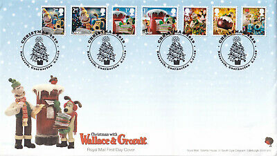 (36403) GB CLEARANCE FDC Wallace & Gromit Christmas 2010
