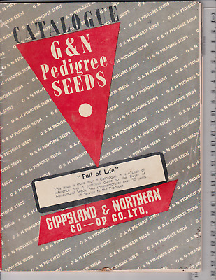 G&N Melbourne Pedigree Seeds Catalogue..Late 1950's