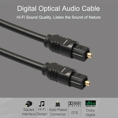 1-12M Universal OD2.2 Digital Fiber Cable Optical Audio TosLink Lead Cord Line