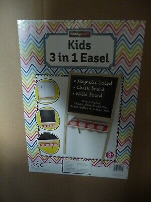 NEW Hobbycraft kids 3 in 1 easel, inc paint pots, paints, brushes