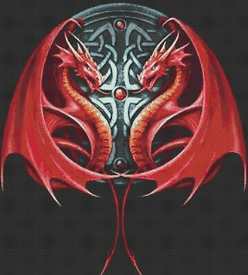 Celtic Dragons - Counted Cross Stitch Chart