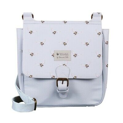 The Country Set Flight of the Bumblebee Satchel Bag – Blue Wrendale Bee Handbag