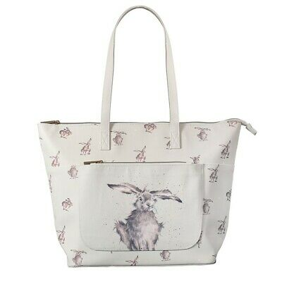 The Country Set Hare-Brained Large Everyday Bag – Wrendale Green Shopping Bag
