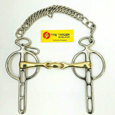 Horse Bit Curb Chain  Horse Tack Rainbow Liver Pool Ported Driving Bit