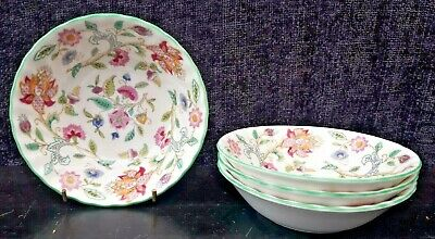 MInton Haddon Hall China - Small fruit bowls x 4 1st Quality- Flat Sided