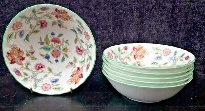 Minton Haddon Hall 13.5  Cm Fruit Bowls  X 6 First Quality