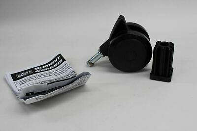 WEBER 70359 Fixed Wheel Caster With Insert Barbecue Replacement Part Oem NEW