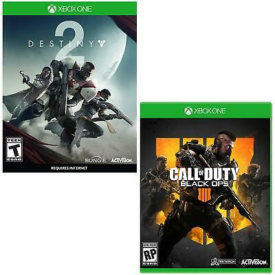 COD Call of Duty Black Ops 4 + Destiny 2 (Xbox One) 2 pack Bonus Video Games