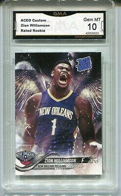 Zion Williamson  Aceo Custom Rated Rookie #1 Draft Pick Rookie Gem Mint 10