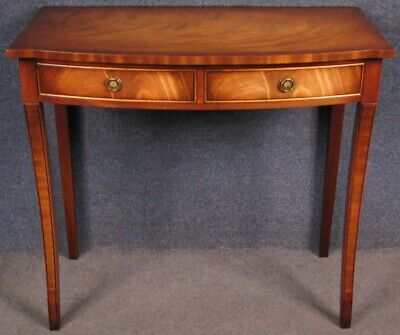 Reprodux Bevan Funnell Regency style mahogany hall side console writing table