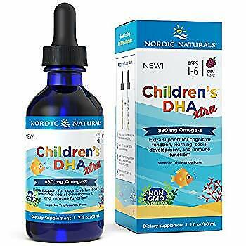 Children's DHA Xtra - Berry Flavored Omega-3 Fish Oil Supplement 2x DHA to EPA R