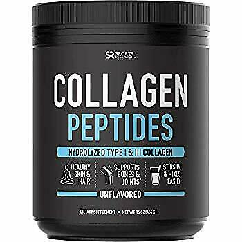 Collagen Peptides Powder (16oz) | Grass-Fed Certified Paleo Friendly Non-GMO and
