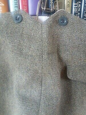 vintage style fish tail mens tweed trousers 32 inch waist