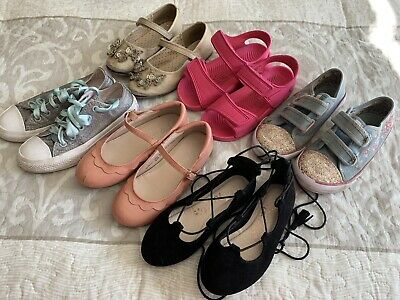 Girls Size 10 Shoes & Trainers Bundle - Includes Converse Trainers & Next