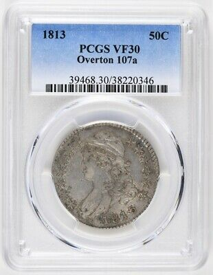 1813 Capped Bust Half Dollar VF30 Overton 107a