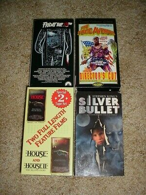 5 Horror Vhs Friday The 13Th The Toxic Avenger House 1 & 2 Silver Bullet