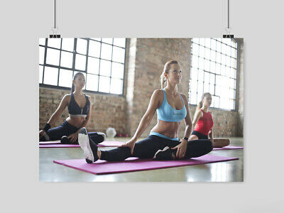 Gym Hot Sexy Girls Poster Sport Fitness Yoga Size A4 A3