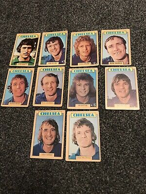 A&BC GUM CARDS Chelsea  FOOTBALLERS BLUE BACK 1973 x 10