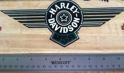 Harley-Davidson Green Fat Boy Inside Window Decal.Vintage Harley Sticker. 4 X 10