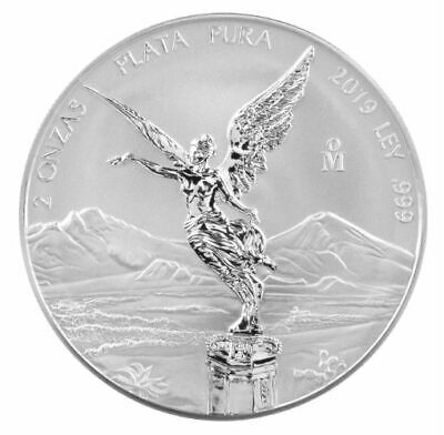 Libertad – Mexico – 2019 2 Oz Reverse Proof Silver Coin In Capsule