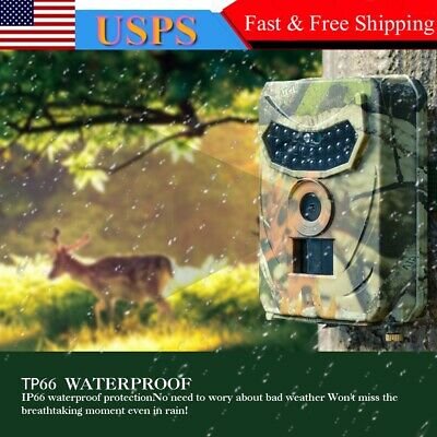 1080P 12MP Hunting Camera Wildlife Scouting Infrared LED Night Vision Trail Cam