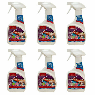 6 x Acana Carpet & Fabric MOTH KILLER and FRESHENER with Lavender 275ml