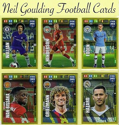 Panini FIFA 365 2020 ☆ FANS ☆ Football Insert Cards #10 to #159