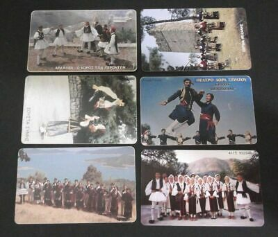 Griechenland Lot 6 Phonecards With Theme: Greek Traditional Dance/Tanz Greece