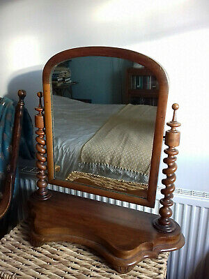 Antique Vintage Beautiful Large Mahogany Dressing Table Mirror