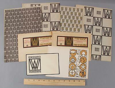 Antique Secessionist WIENER WERKSTATTE Wrapping Paper Card Envelope Coupon Print