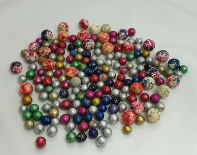 Vintage large lot of 178 clay stone marbles large and small