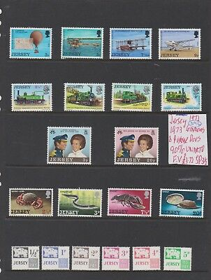 ref 396 JERSEY 1971, 1972 COMMEMS & POSTAGE DUES