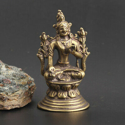 Chinese Asian Antique Collectible Copper Buddha Statue Figurines Pendant Home