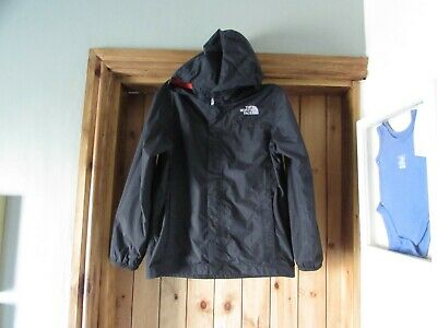 boys `The North Face` rain jacket black size M/M aged 10 / 12 years hyvent smart