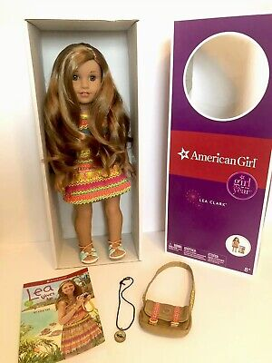 American Girl Doll Of The Year 2016 Lea Clark In Box With Book, Bag, Comp