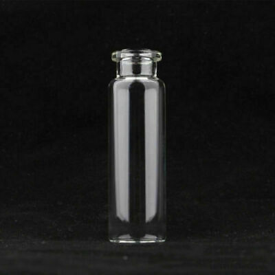 20ml 10ml Clear Vials 20mm Crimp Top Bevelled Round Bottom Headspace Vial 100Pcs