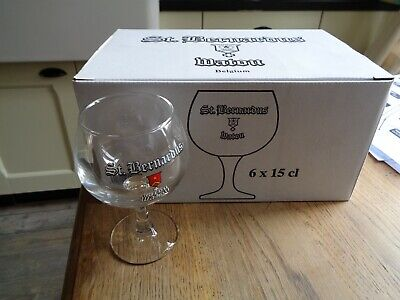 St Bernardus Watou set 6 glazen glas verre 6 glasses new in box boite 15 cl 2017