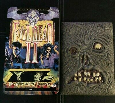 EVIL DEAD 2 DVD Book of the Dead + Limited Edition Tin Editions II Anchor Bay