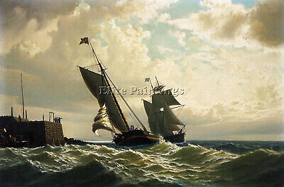 William Bradford Faire Port Artiste Tableau Reproduction Peinture A Main Deco M