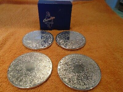 Four Matching Coasters By Cavalier Giftware In Box