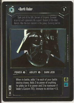 Darth Vader Reflections Ultra Rare Foil Card Star Wars CCG Decipher