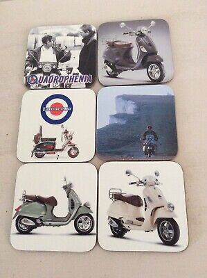 Set of 6 Mod/Scooter Drinks Coasters
